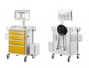 China Emergency Medical Computer Workstation Trolley Cart For Drug Delivery on sale