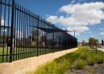 A proteção do limite soldada galvanizou o cerco tubular provisório de aço da cerca de piquete