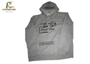 China Embroidered Gray Hooded Sweatshirt Jacket Men Cotton Custom Pullover Hoodies on sale