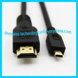 China Gold Plated High Speed HDMI to Micro HDMI Cable 1.4 V on sale