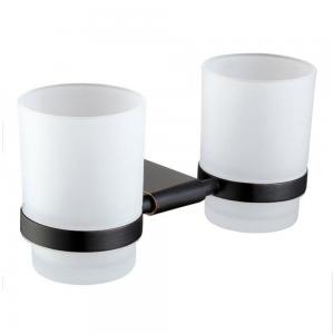 China ORB Hotel Bathroom Accessory Double Tumbler Holders Toothbrush Holder Wall Mounted on sale