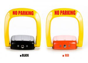China Anti rust steel automatic Car Parking Lock system powered by charge free D size battery on sale