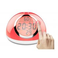 Multicolor LED Touch Light Alarm Clock 2000MA Battery Capacity For Bedroom
