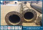 14m 800 Dan Electrical Transmission Power Pole Replacement Hot Dip Galvanization Q345