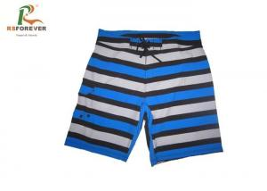 China Beach Surfing Printed Board Shorts Mens Stripe Design Cool Dye Sublimation on sale