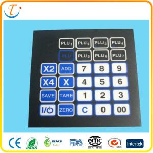 China Adhesive PET LED Membrane Switch Keyboard With Embossed Metal Dome Push Button on sale