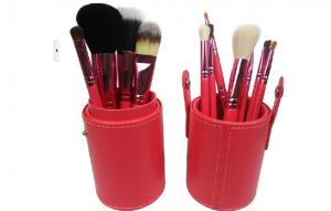 China Round Bag Package Face Makeup Brushes Set 12pcs of Synthetic Hair on sale