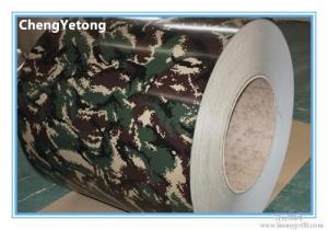 China HDP Coating Prepainted Galvalume Steel Coil Camouflage Color High Chemical Resistance on sale