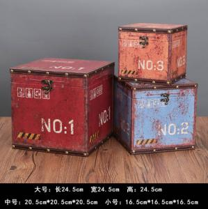 China Vintage European MDF Storage Trunk Box Small Treasure Chest for Kids Girls Boys Gifts on sale