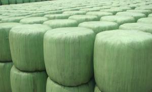 China Película del abrigo del estiramiento del ensilaje de la prensa de la hierba del PE para el uso agrícola que envuelve las balas del ensilaje on sale