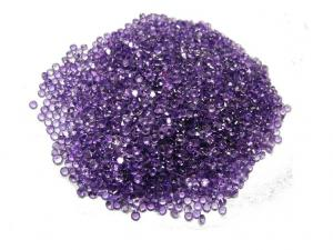 China 1.75mm 0.031cts Natural Amethyst Jewelry For Loose Gemstones Pendants on sale