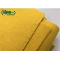 China 3mm thick yellow color sound insulation polyester needle punch felt fabric for carpet and embroidery stabilizer on sale