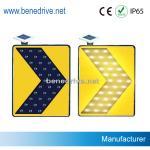 Señales de tráfico solares de las señales de tráfico LED que mueven las flechas que destellan STS0112