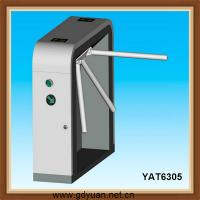 retractable mechanism tripod turnstile with magnetic card