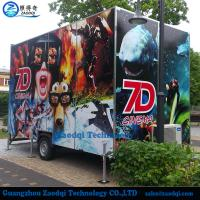 Newest motion chairs truck mobile Xd cinema interactive 7d cinema for sale