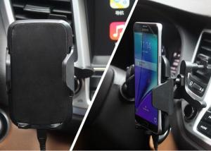 China Air Vent Sucked Universal Wireless Phone Charger Fast Charging Car Phone Holder Stand on sale