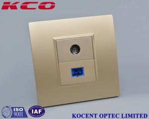 China FTTH Flame Retardant Fiber Optic Distribution Box For Fiber CATV Networks Socket Face Plate on sale