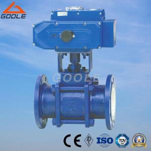 China 3PCS Electric Actuated Ceramic Floating Ball Valve (GQ941TC) on sale