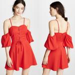 2018 Women Clothing Mini Red Puff Sleeve Summer Boho Dress For Women