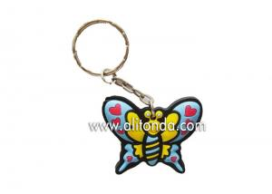 China Manufacturer Personalized custom 2d 3d fashionable butterfly goldfish eagle holder key chain with eco-friendly soft pvc on sale