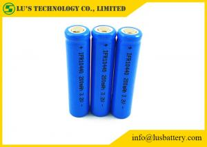 China 200mah 3.2V 10440 Lithium Ion Battery / 10440 Rechargeable Batteries on sale