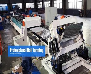 China Steel Silo Metal Roof Roll Forming Machine Gear Box Driven On Line Crimping on sale