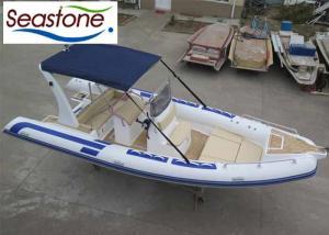 China Teak Floor Rigid Hull Inflatable Dinghy , Lightweight Inflatable Tenders 22 Foot UV Stable on sale