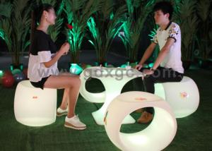 China Waterproof LED Lighting Bar Stools With Remote Control Battery on sale
