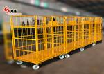 1100*800*1700MM size foldable trolley, customized logistics trolley with mute caster
