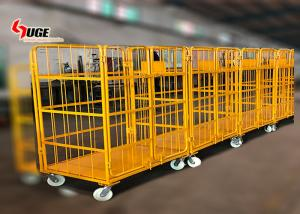 China 1100*800*1700MM size foldable trolley, customized logistics trolley with mute caster on sale