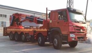 China 90 ton knuckle boomed truck-mounted crane with a height of 17m on sale