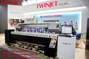 China Digital Fabric Dye Sublimation Printer TWINJET PHOENIX 1800 CMYK Colour With High Speed on sale