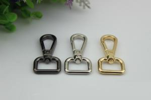 China New products shiny gold square shape metal swivel bolt snap hook 16 mm for handbag on sale