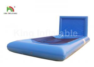 China Eco - Friendly Blue Rectangle Inflatable Sports Games With Mesh For Kids on sale