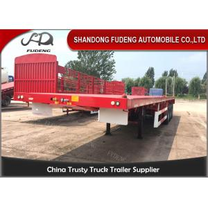 China 3 Axles 40 Foot Flatbed Trailer / Air Bag Suspension 20 Foot Flatbed Trailer on sale
