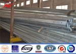 Gabon Q345 Power Metal Steel Utility Poles 10m 330KG for Transmission
