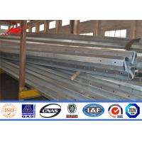 China Gabon Q345 Power Metal Steel Utility Poles 10m 330KG for Transmission on sale