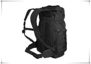 China 50L Black Camping Rock Mountain Climbing Bag Buckles Comfortable For Traveling on sale