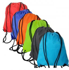 China Waterproof  Polyester SCG 600D 160gsm Draw String Bag on sale
