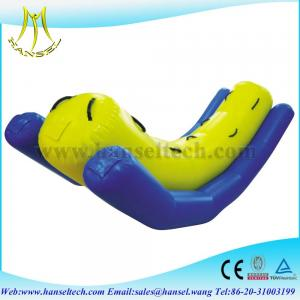 China Hansel Hot sell inflatable water totter,inflatable totter water toy on sale