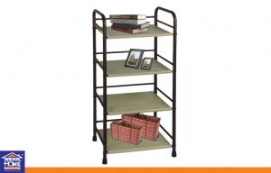 China Kitchen or Living Room Home Storage Racks for Shoes or Garage with 4 Tiers ABS Plastic Board on sale