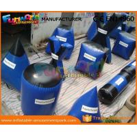 Large Inflatable Paintball Bunkers Field Equipment with CE / UL Blower