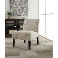 Hasel Microfiber Accent Chair Natural Wood Tone Legs For Lesuire Sitting