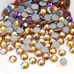 Round Garment Hotfix Glass Rhinestones / Luxury Loose Colored Rhinestones