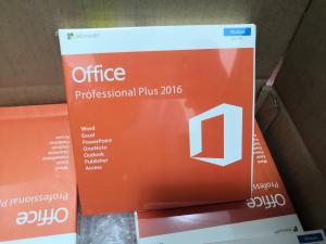 China Microsoft Office 2016 Pro Plus Key Genuine Key Card Retail Box With 3.0 USB on sale