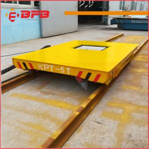 China Heat Resist Short distance industry Electric Transfer  Rail Flat Cart for sale on sale