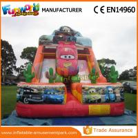 Colorful 0.55mm PVC Car shape Giant Inflatable Water Slide 1 Year Warranty