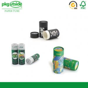 China Cylinder Food Packaging Tubes 100% Eco Kraft Well - Sealing Damp - Proof on sale