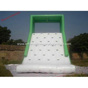 China Large Green Inflatable Backyard Water Slide With Roof , 0.9mm PVC Tarpaulin on sale