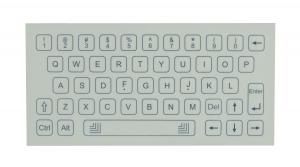 China mini easy cleaning design membrane panel mount keyboard with white color on sale